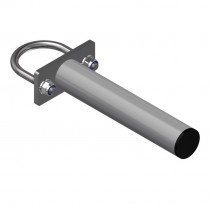 Feeding barrier adjustable clamp for 76 mm post