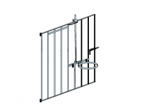 Plastic calf pen gate with headgate